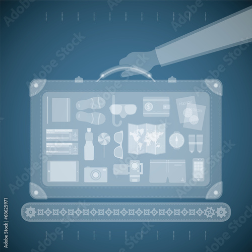 Vector concept of xray airport scanner - 68625971