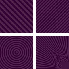 Simple purple striped wallpaper set