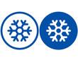 blue snowflake - 68626707