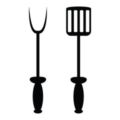 spade and fork for grill