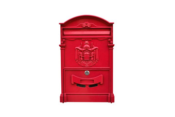 Roman decorated Mailbox with Isolated Background
