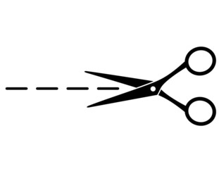 cut line with scissors