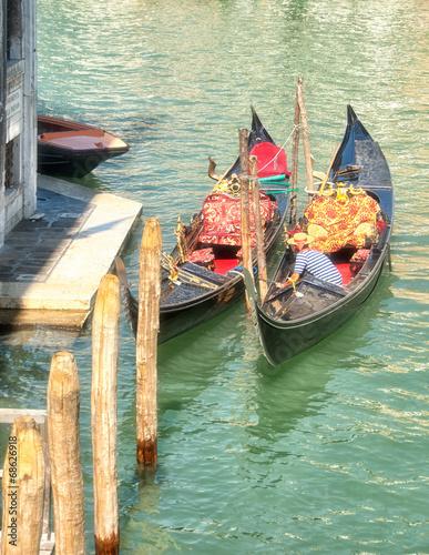 In de dag Gondolas Venedig Impression