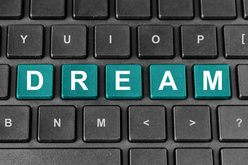 dream word on keyboard