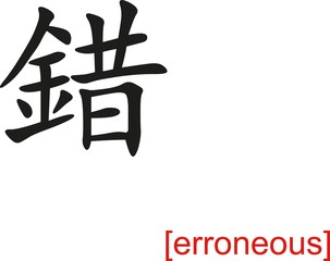 Chinese Sign for erroneous