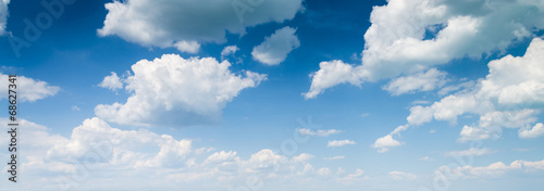 blue sky background with clouds poster