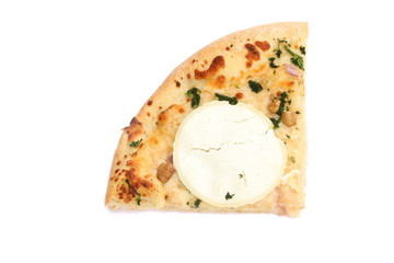 part de pizza au chèvre