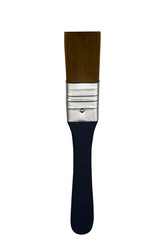 Flat paint brush isolated