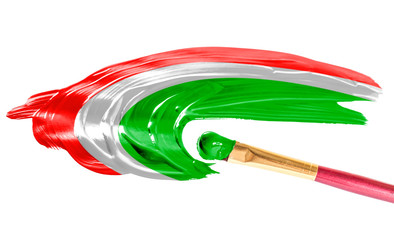 Flag of Hungary. Illustration paints on paper