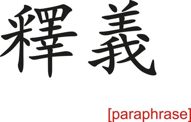 Chinese Sign for paraphrase
