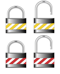 Iron locks. Raster
