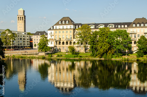 canvas print picture Stadtpanorma Muehlheim an der Ruhr NRW
