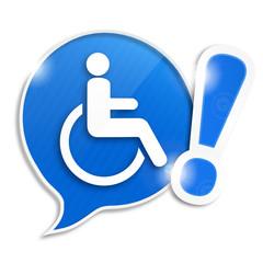 bulle picto handicap moteur