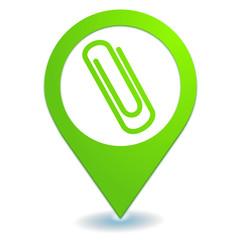 classement sur symbole localisation vert