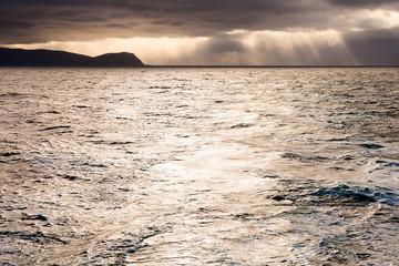 stürmische Küste