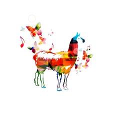 Colorful lama design