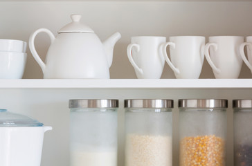 white kitchenware