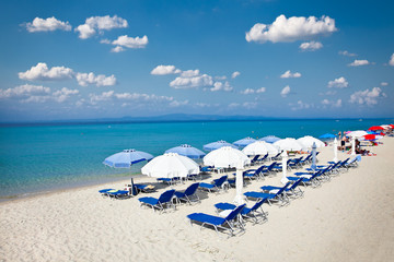 Polychrono beach on Kasandra peninsula,  Greece.