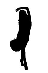Сheerleader in black