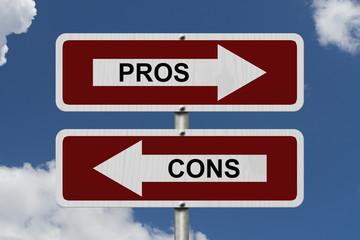 Pros versus Cons