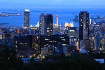 神戸の夕景