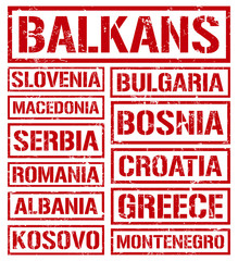balkan countries stamps