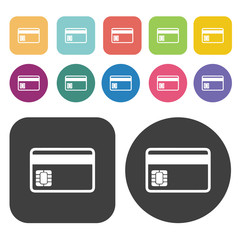 Credit card icons set.