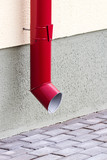New red drainpipe poster