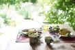 朝食 自然 緑 窓 テーブル  - 68633556