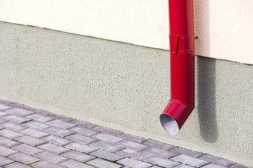 Red drainpipe
