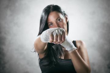 Boxe Girl Fist