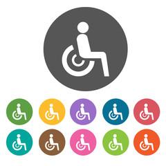 Disabled sign icons set. Illustration eps10