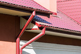 Rain gutter for collects rainwater poster