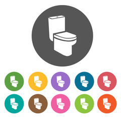 Wc ,Toilet icons. Illustration eps10