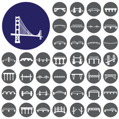 Bridges icons set. Illustration eps10