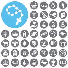 Christian religion sign and symbol. Illustration eps10