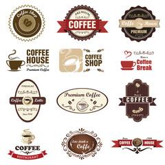 Vintage retro coffee badges and labels. Illustration eps10
