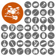 Постер, плакат: Music instruments icon collection Illustration eps10