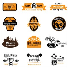 Halloween Labels and Badge. Illustration eps10