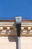 Decorative drainpipe on historical building poster
