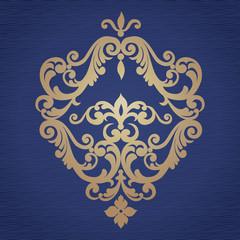 Vector baroque ornament in Victorian style.