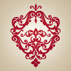 Vector baroque ornament in Victorian style. Ornate element.