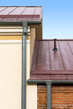 Drainpipe and metal roof poster