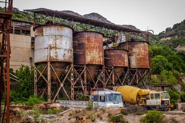 Abandoned rusty coal mine