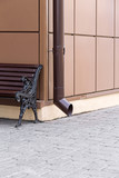 Downspout and bench poster