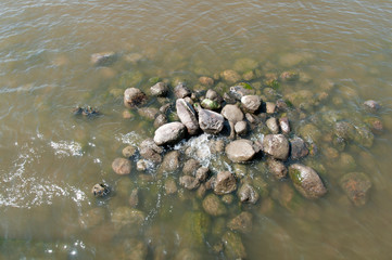 stones on the water