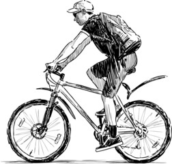 young byciclist