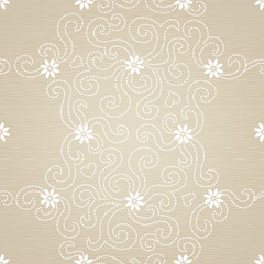 Vector seamless pattern with small flowers.
