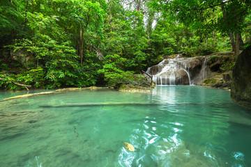 Erawan waterfall in Kanjanaburi Thailand
