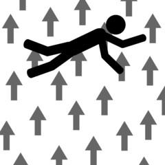 Fall between arrows